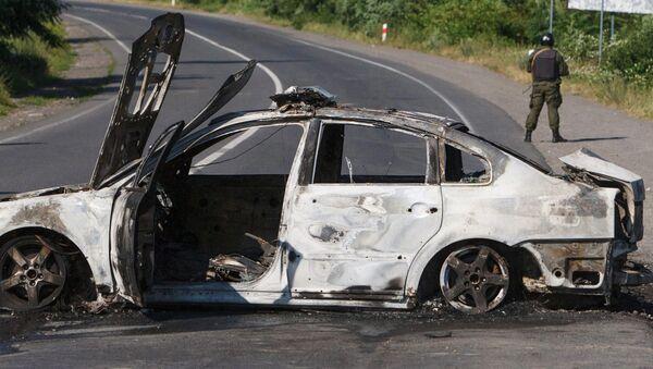 Spalony samochód - Sputnik Polska