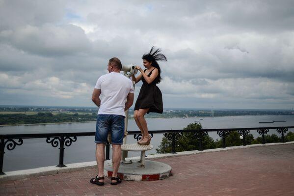 Nabrzeże Wołgi w Niżnym Nowogrodzie - Sputnik Polska