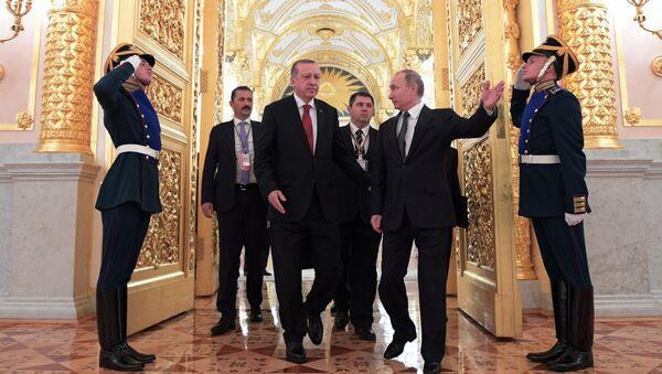 Władimir Putin i Tayyip Erdogan - Sputnik Polska