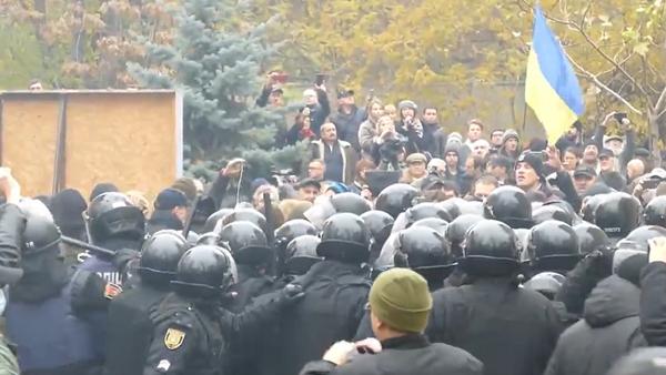 Starcia z policją w Odessie - Sputnik Polska