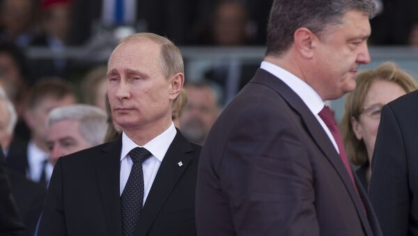 Władimir Putin i Piotr Poroszenko - Sputnik Polska