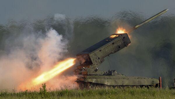 """Rosyjski system artylerii rakietowej TOS-1A """"Sołncepiok - Sputnik Polska"""