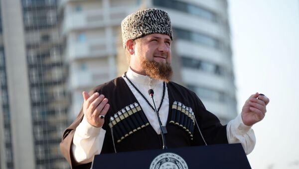 Szef Czeczeńskiej Republiki Ramzan Kadyrow - Sputnik Polska