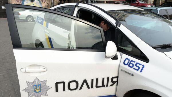Samochód policyjny w Kijowie - Sputnik Polska