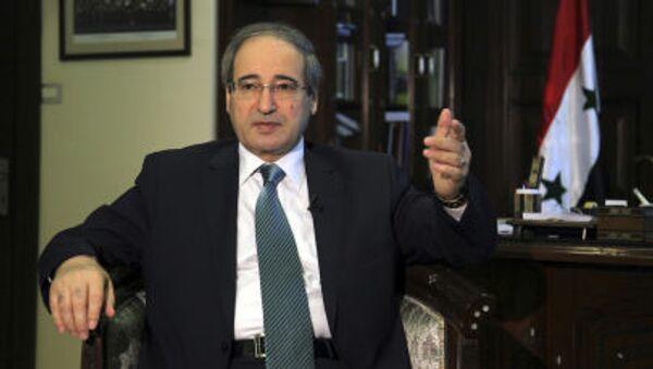 Wiceminister spraw zagranicznych Syrii Faisal Mekdad - Sputnik Polska