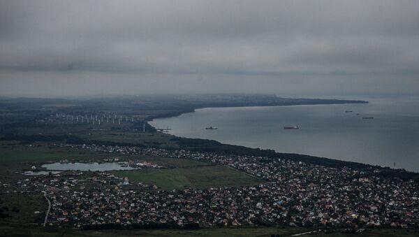 Widok z pokładu śmigłowca na Zielenogradsk w obwodzie kaliningradzkim - Sputnik Polska