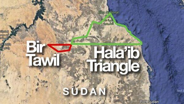 Mapa granicy Egiptu i Sudanu - Sputnik Polska
