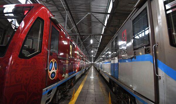 Oficjalny pociąg MŚ-2018, poświęcony historii Mistrzostw Świata w Piłce Nożnej - Sputnik Polska