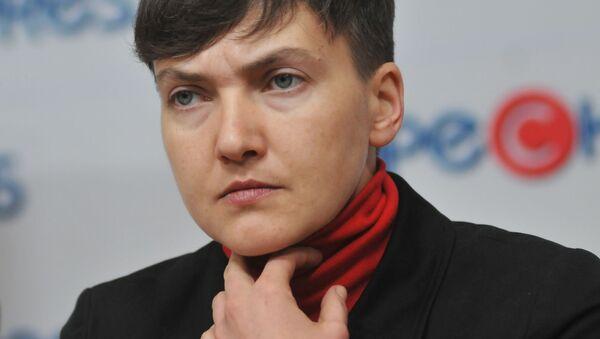 Deputowana do Rady Najwyższej Ukrainy Nadieżda Sawczenko - Sputnik Polska
