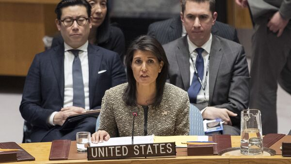 Stały przedstawiciel USA przy ONZ Nikki Haley - Sputnik Polska