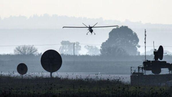Izraelski dron nad Wzgórzami Golan - Sputnik Polska