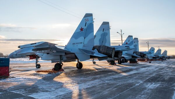 Najnowsze Su-35S na bazie w Karelii - Sputnik Polska
