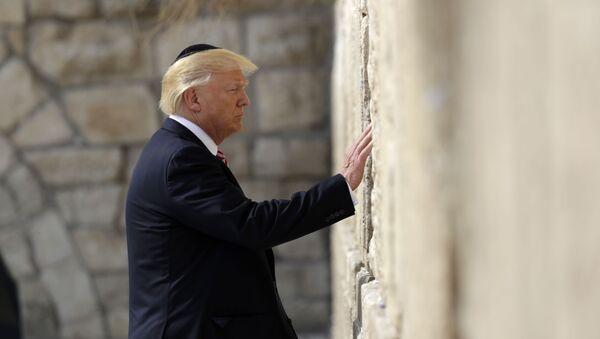 Prezydent USA Donald Trump przy Ścianie Płaczu w Jerozolimie - Sputnik Polska