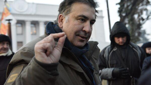 Były gubernator obwodu odeskiego Michaił Saakaszwili w Kijowie - Sputnik Polska