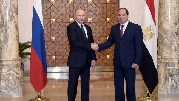 Prezydent Rosji Władimir Putin i prezydent Egiptu Abd al-Fattah as-Sisi - Sputnik Polska