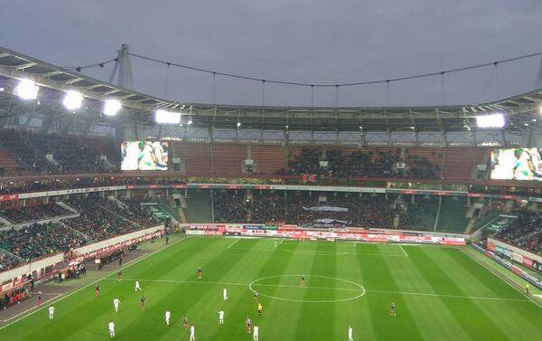Andrzej Listwan na meczu piłki nożnej - Sputnik Polska