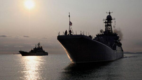 Duże okręty desantowe w Kraju Nadmorskim - Sputnik Polska