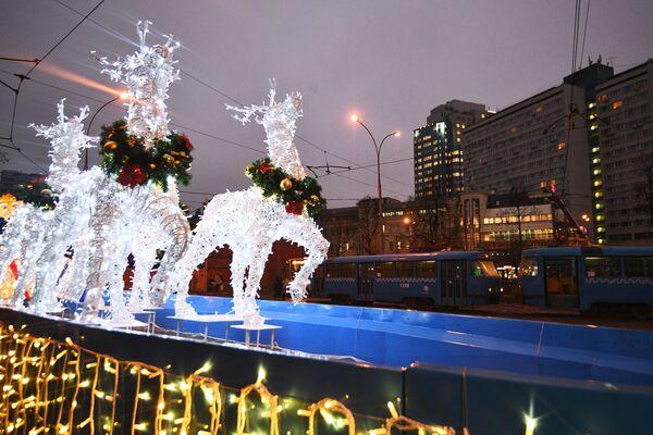 Świąteczne tramwaje będą czynne do 9 stycznia. - Sputnik Polska