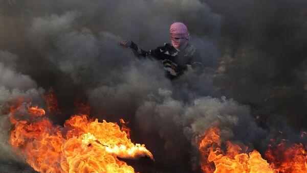 Palestyńczycy protestują - Sputnik Polska