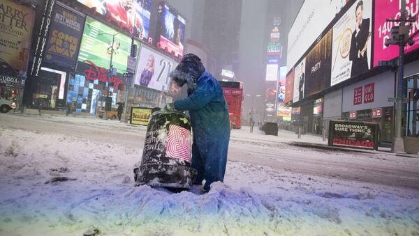 Atak zimy w Nowym Jorku - Sputnik Polska