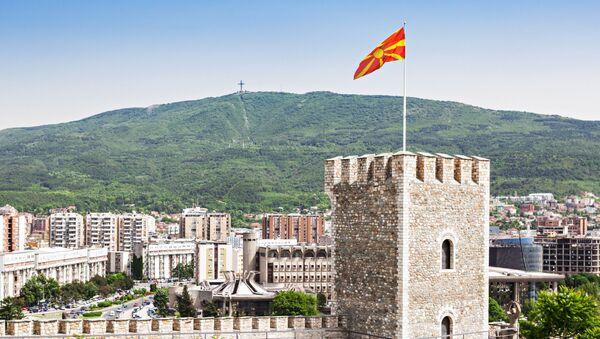 Widok na Skopsko Kale – twierdzę w Skopje, w północnej Macedonii - Sputnik Polska