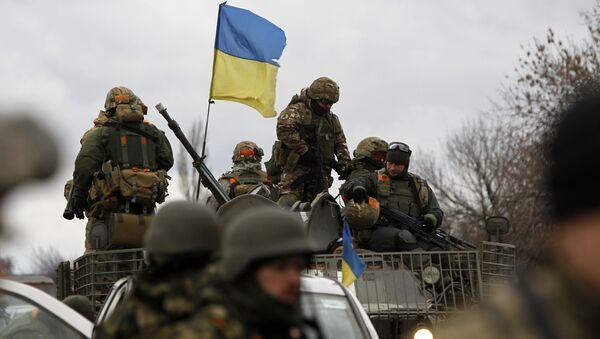 Ukraińska armia w obwodzie donieckim - Sputnik Polska