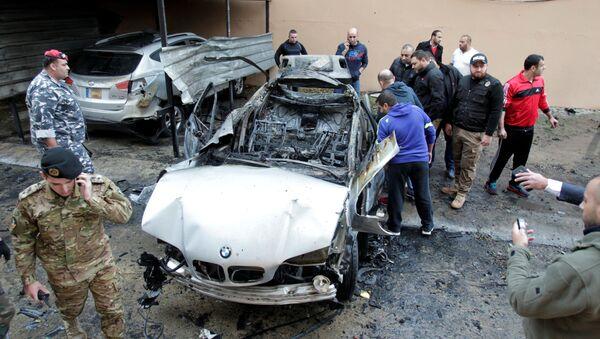 Wysadzony samochód w Libanie - Sputnik Polska