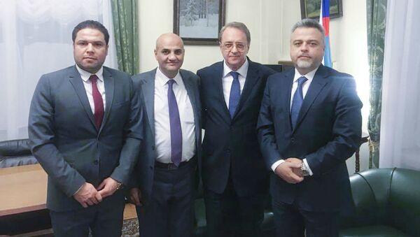 Delegacja Syryjskiej Partii Socjal-Nacjonalistycznej w Moskwie - Sputnik Polska