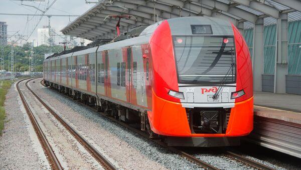 Jazda próbna pociągu elektrycznego Jaskółka - Sputnik Polska