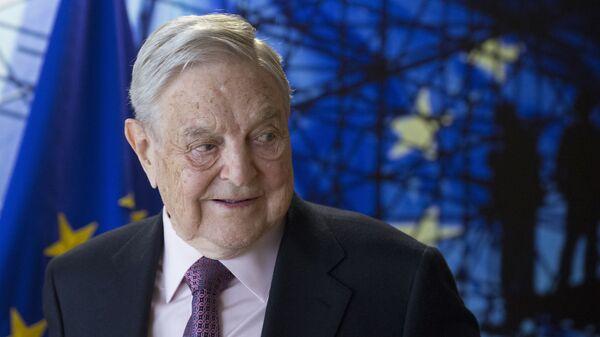 Amerykański miliarder George Soros w czasie wizyty w Brukseli - Sputnik Polska