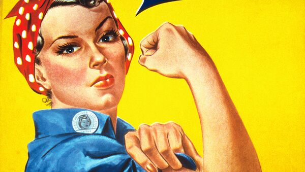 Plakat propagandowy We Can Do It! z okresu II wojny światowej - Sputnik Polska