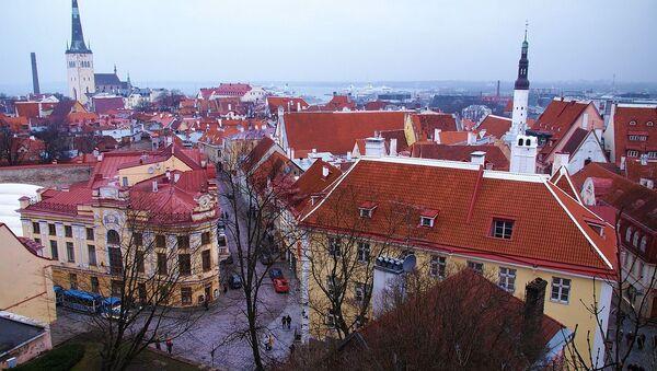 Widok na zimowy Tallinn - Sputnik Polska