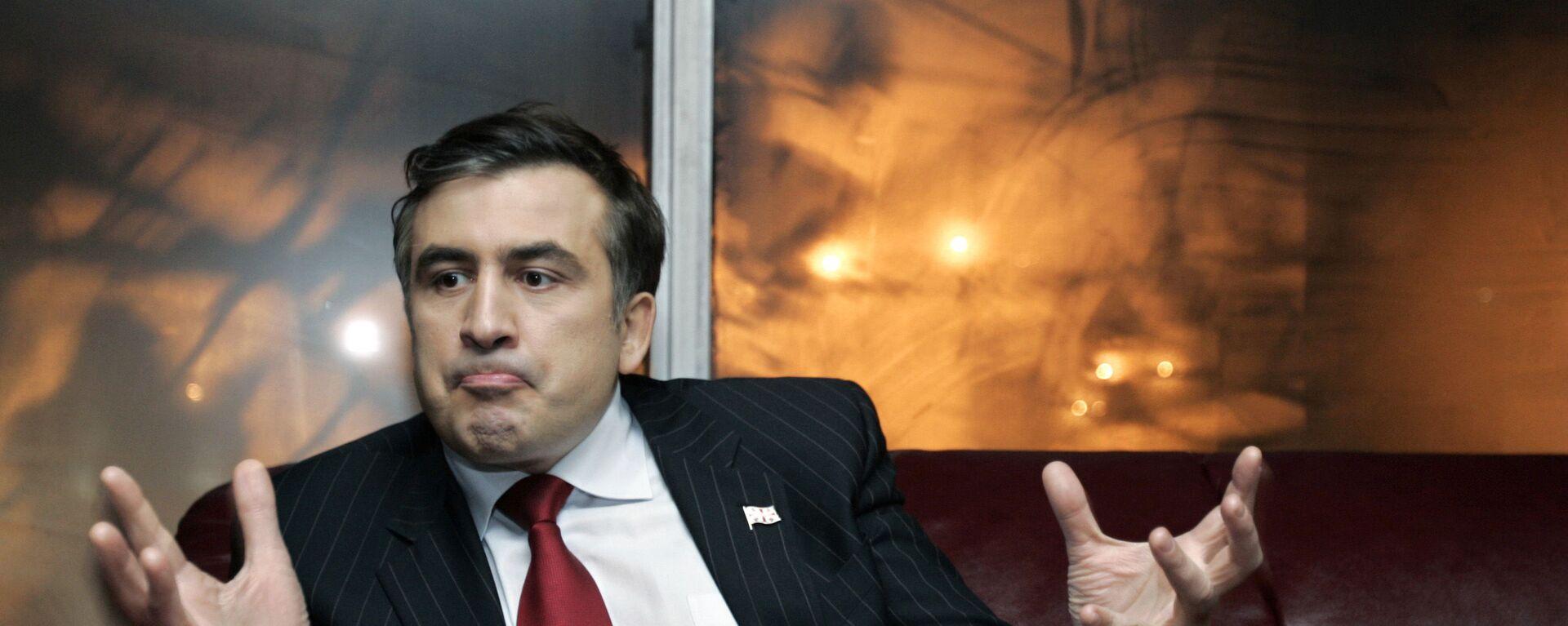 Gruziński polityk Michaił Saakaszwili - Sputnik Polska, 1920, 08.10.2021