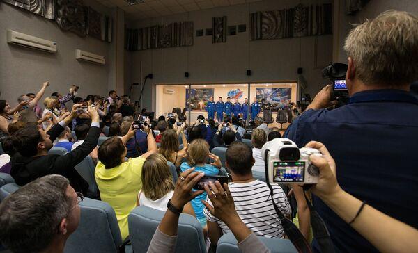 Konferencja prasowa przed wystrzeleniem statku kosmicznego Sojuz - Sputnik Polska