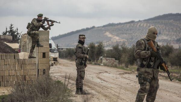 Turecka operacja Gałązka Oliwna w syryjskim Afrinie - Sputnik Polska