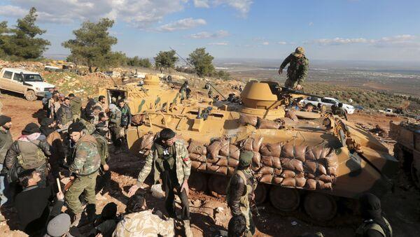 Tureckie wojska i wspierani przez Turcję syryjscy wojskowi - Sputnik Polska