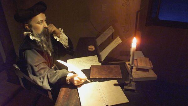 Manekin astrologa i alchemika Michela Nostradamusa - Sputnik Polska