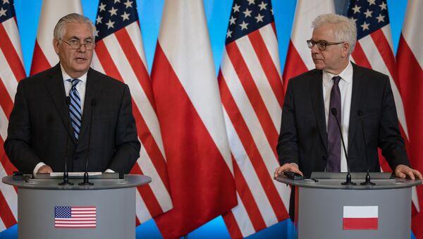 Rex Tillerson i Jacek Czaputowicz - Sputnik Polska