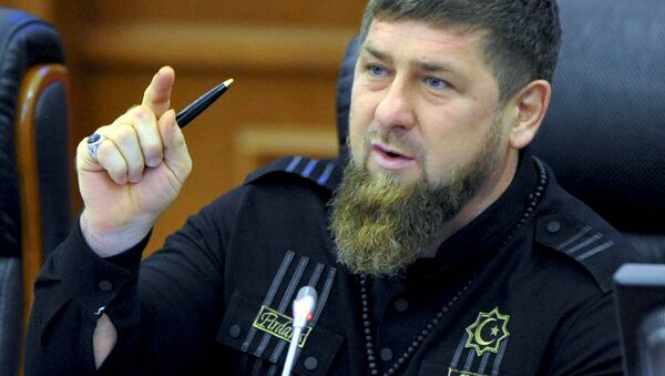 Lider Republiki Czeczeńskiej Ramzan Kadyrow - Sputnik Polska