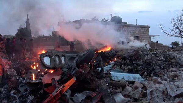 Zestrzelony rosyjski samolot Su-25 w Syrii - Sputnik Polska