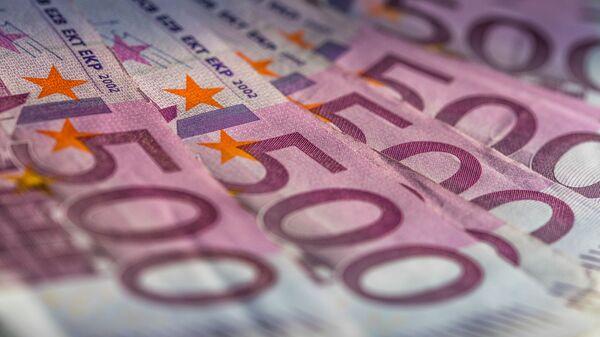 Banknoty o nominale 500 euro - Sputnik Polska
