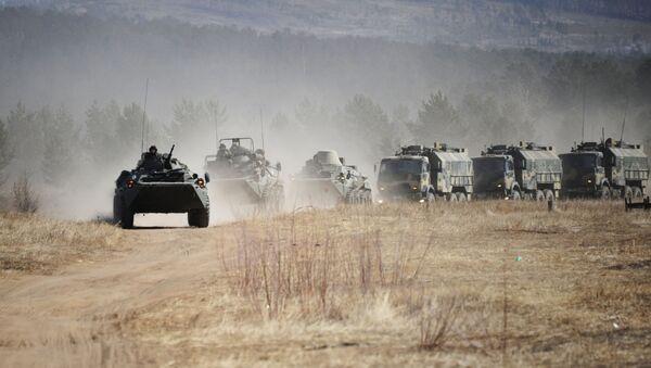 Żołnierze Wschodniego Okręgu Wojskowego podczas ćwiczeń w Kraju Zabajkalskim - Sputnik Polska