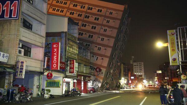 Trzęsienie ziemi na Tajwanie - Sputnik Polska