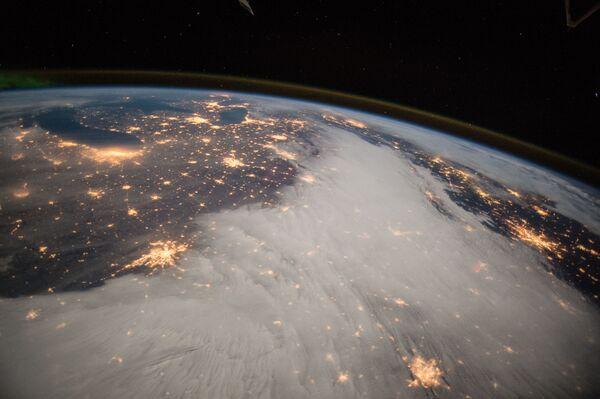 Zdjęcie Wielkich Jezior z pokładu MSK - Sputnik Polska