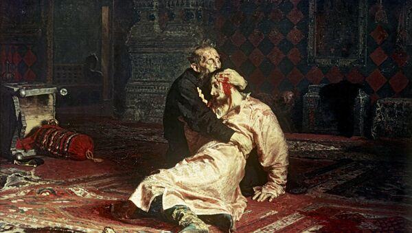 Ilja Riepin Car Iwan Groźny i jego syn Iwan 16 listopada 1581 roku - Sputnik Polska