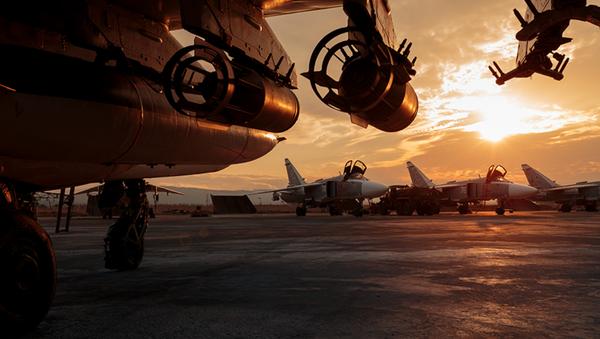 Rosyjska baza wojskowa Hmeymim w Syrii - Sputnik Polska