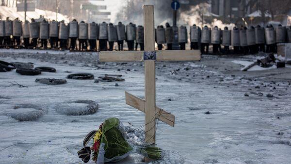 Krzyż - miejsce pamięci o zabitych podczas Majdanu - Sputnik Polska