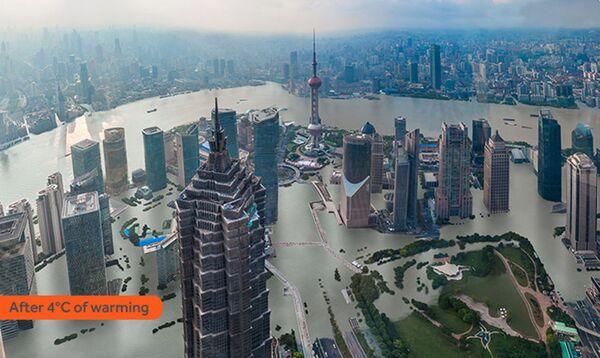 Jak wyglądałby Szanghaj po zatopieniu w rezultacie globalnego ocieplenia - Sputnik Polska
