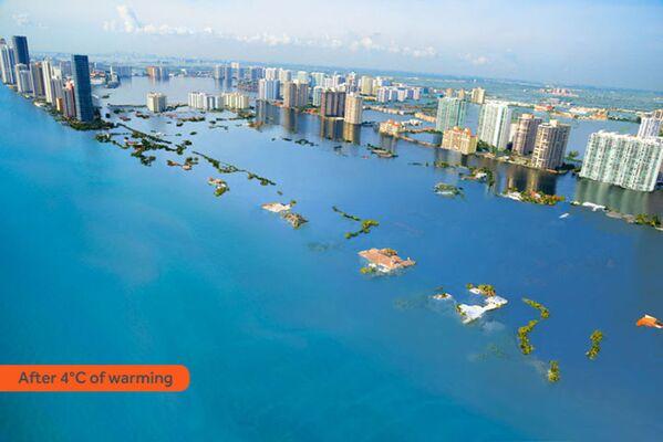 Jak wyglądałoby Miami Beach po zatopieniu w rezultacie globalnego ocieplenia - Sputnik Polska