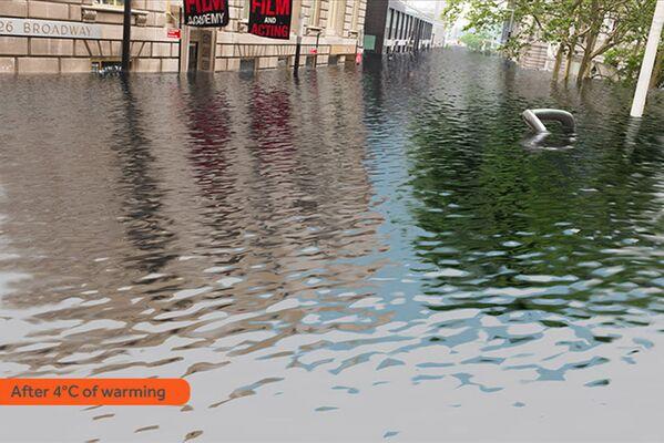Jak wyglądałby Nowy Jork po zatopieniu w rezultacie globalnego ocieplenia - Sputnik Polska